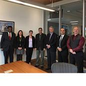 מפגש הנשיא בטורונטו קנדה, עם הנהלת מכללת סנטיניאל