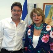 """פגישת שר המדע חה""""כ אופיר אקוניס עם נשיאת המכללה פרופ' שוש ארד"""