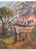 אהרון פרץ מציג את ציוריו במכללת אחוה
